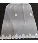 Плат за тънки, прозрачни дневни пердета, вълнообразен завършек напръскани хоризонтални раета през 20см.височина 280см., код-KRC-04