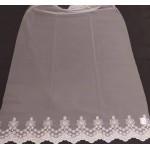 Плат за тънки, прозрачни дневни пердета със завършек бордюр с бродерия 9см., цвят мръсно бял, височина 290см. код-NUH-12023
