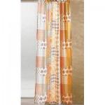 Полупрозрачна шарена завеса  с пришита ширит лента за окачване на релса или корниз, размер 225см. височина на 140см. ширина код-017809