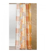 Полупрозрачна шарена завеса  с пришита ширит лента за окачване на релса или корниз, размер 245см. и 225см. височина на 140см. ширина код-017809