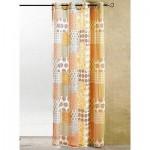 Полупрозрачна шарена завеса  с вградени халки за поставяне на тръбен корниз, размер 225см. височина на 140см. ширина код-044252-3