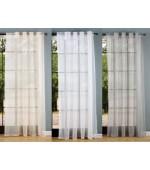 Натурално тънко перде на гънки имитиращо лен, с размер 245x145см. (височина x ширина в опънато състояние) подходящо за поставяне на тръбен корниз или релса