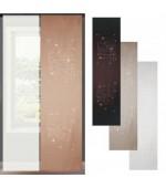 2 броя панел завеси, една плътна на квадрати с кристали  и една тънка за поставяне на ПВЦ релса с размер 245x60см.(височина x ширина)