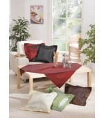 Елегантна лъскава тафта покривка цвят зелен и черен с размер 100x100см.