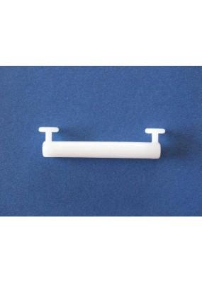 Пластмасов лентодържач 5.8см. широчина и 1.4см. височина за пердета с окачващи ленти-уши (презрамки). Цената е за един пакет от 8 броя.