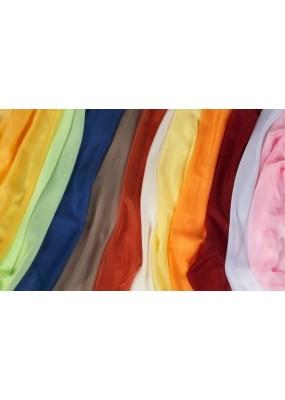 16 цвята ефирен нежен плат муселин (воал) за пердета декорации и др. цената е за линеен метър с ширина 150 см. Минимално количество при поръчка от цвят 5л.м.
