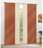 Комплект от 4бр. еднакви стилни панел завеси от тафта в богата гама от избираеми цветове всяка с размер 245x60см. за окачване на ПВЦ-релса