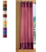 Полупрозрачна завеса от муселин с тафтборд ленти в двата края и вградени халки за окачване на корниз с размер 245x140см.