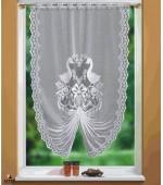 9 модела за кухня, перде тип лястовича опашка с красиви бродерии на цветя и животни размер 175 x 120см. (височина x ширина в опънато състояние)