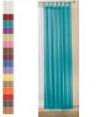Нежно полупрозрачно перде от фин муселин с окачващи ленти за корниз и допълнително пришита ширит лента в изобилие от различни модни цветове в три размера на височината 175,225 и245см. всички на ширина 145см.