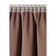 """Плътна елегантна завеса в различни цветове от плат """"Блекаут""""  за максимално затъмнение с пришита ширит лента за окачване на ПВЦ, алуминиева или метална релса с размер 245x140см. код-20611"""