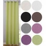Готова завеса с халки в пастелни тонове за окачване на тръбен корниз, размер 145x140см. код-10265