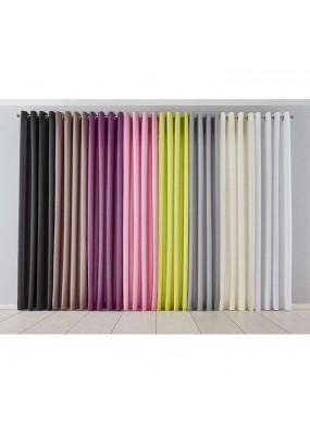 Готова завеса с халки в пастелни тонове за окачване на тръбен корниз, размер 225x140см. код-1000265